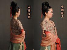 中国古代装束复原唐武周时代连珠锦半臂